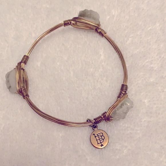 Bourbon & Bowties crystal druzy bangle bracelet